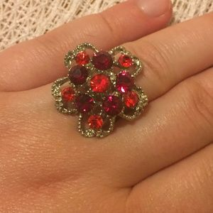 Jewelry - 3 For $15 Adjustable Flower Ring